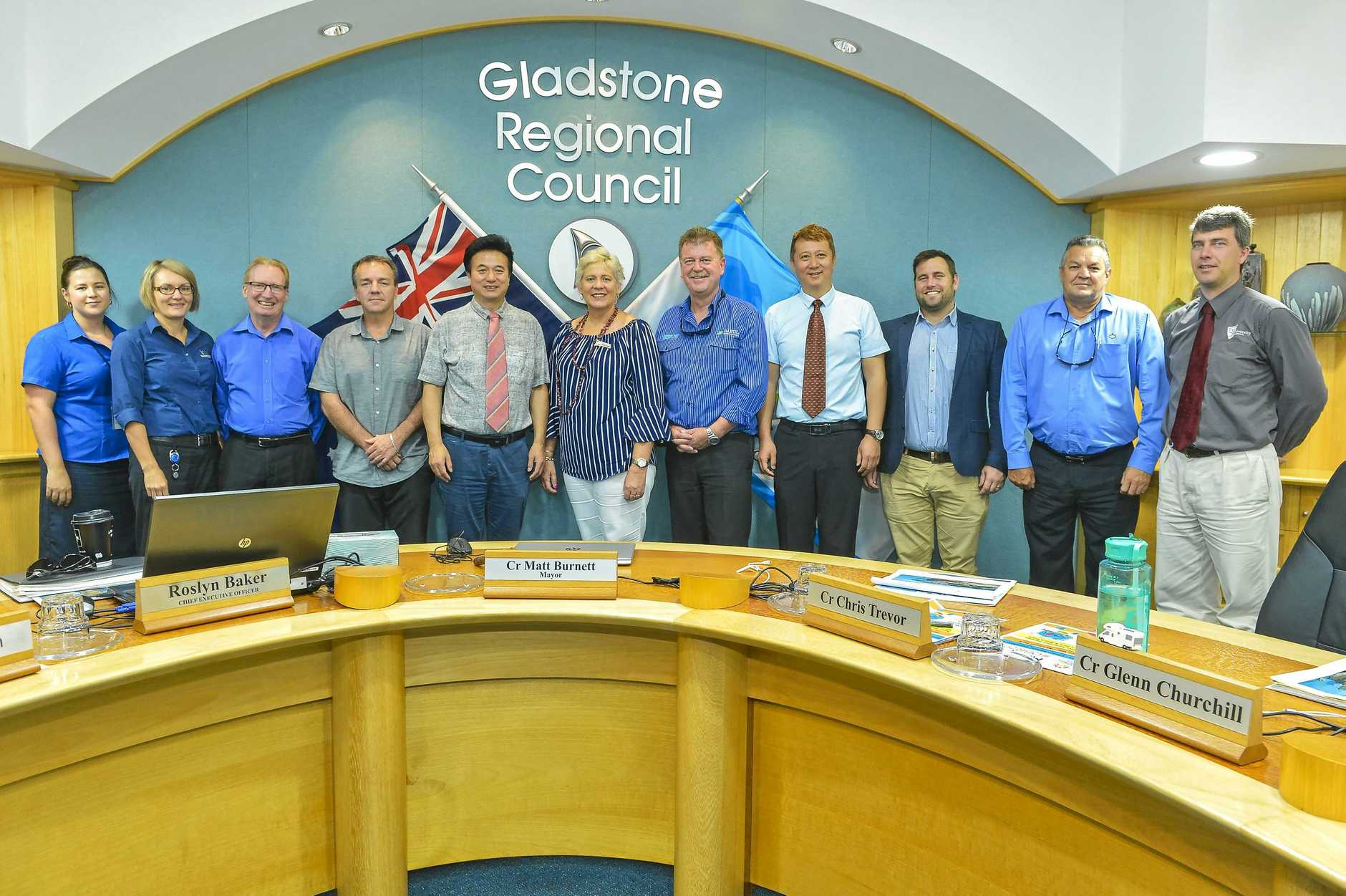 A visiting Chinese delegation spoke at Gladstone Council Chambers to key stakeholders.