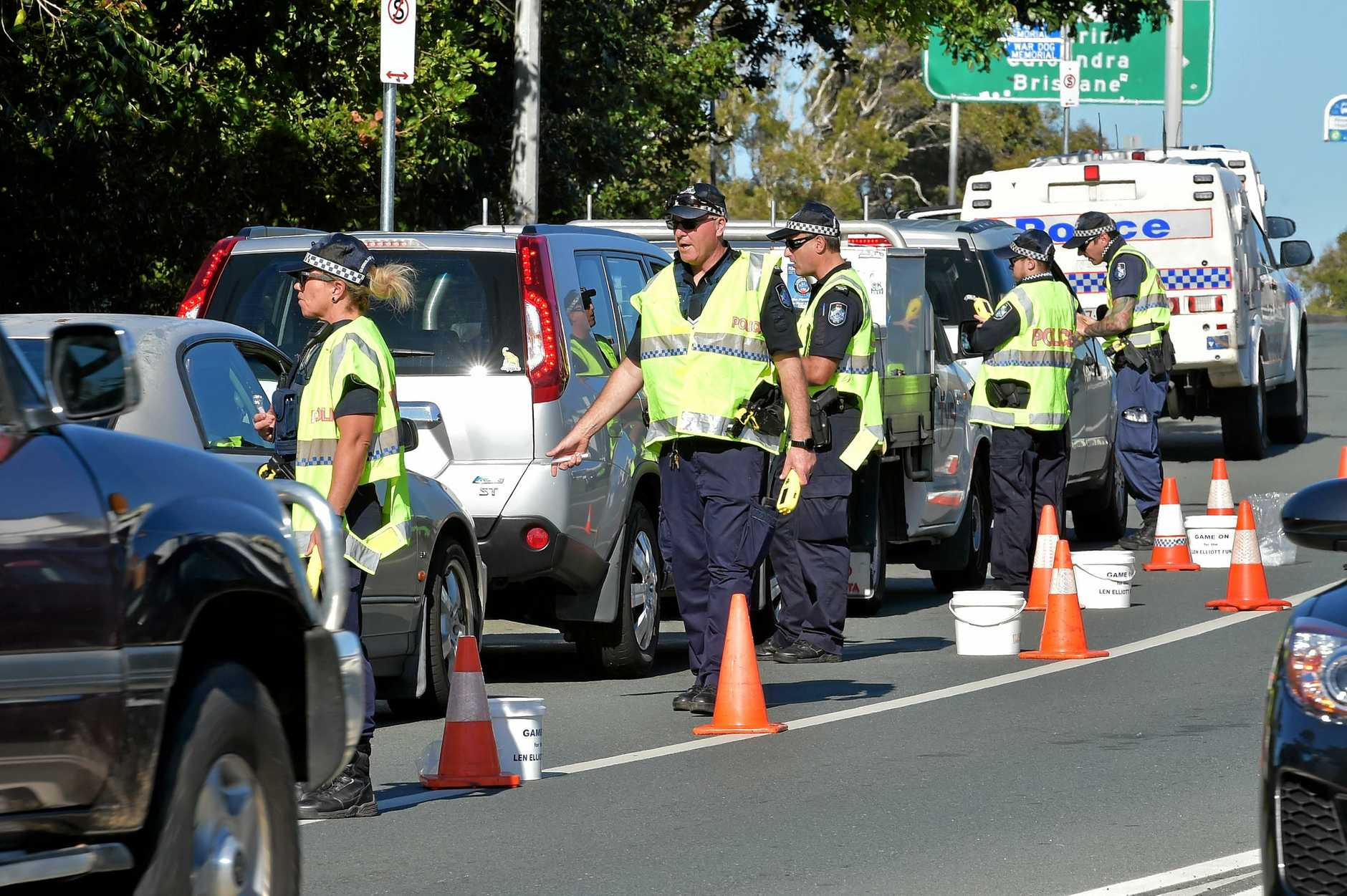 FILE PHOTO: Sunshine Coast Police conduct a Random Breath Test operation.