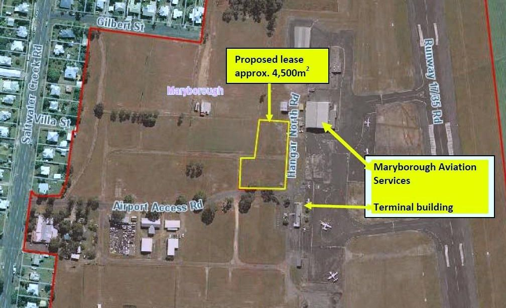 NEW MUSEUM: A lease area for the new RAAF Museum at Maryborough airport, which was approved by the council on Wednesday.