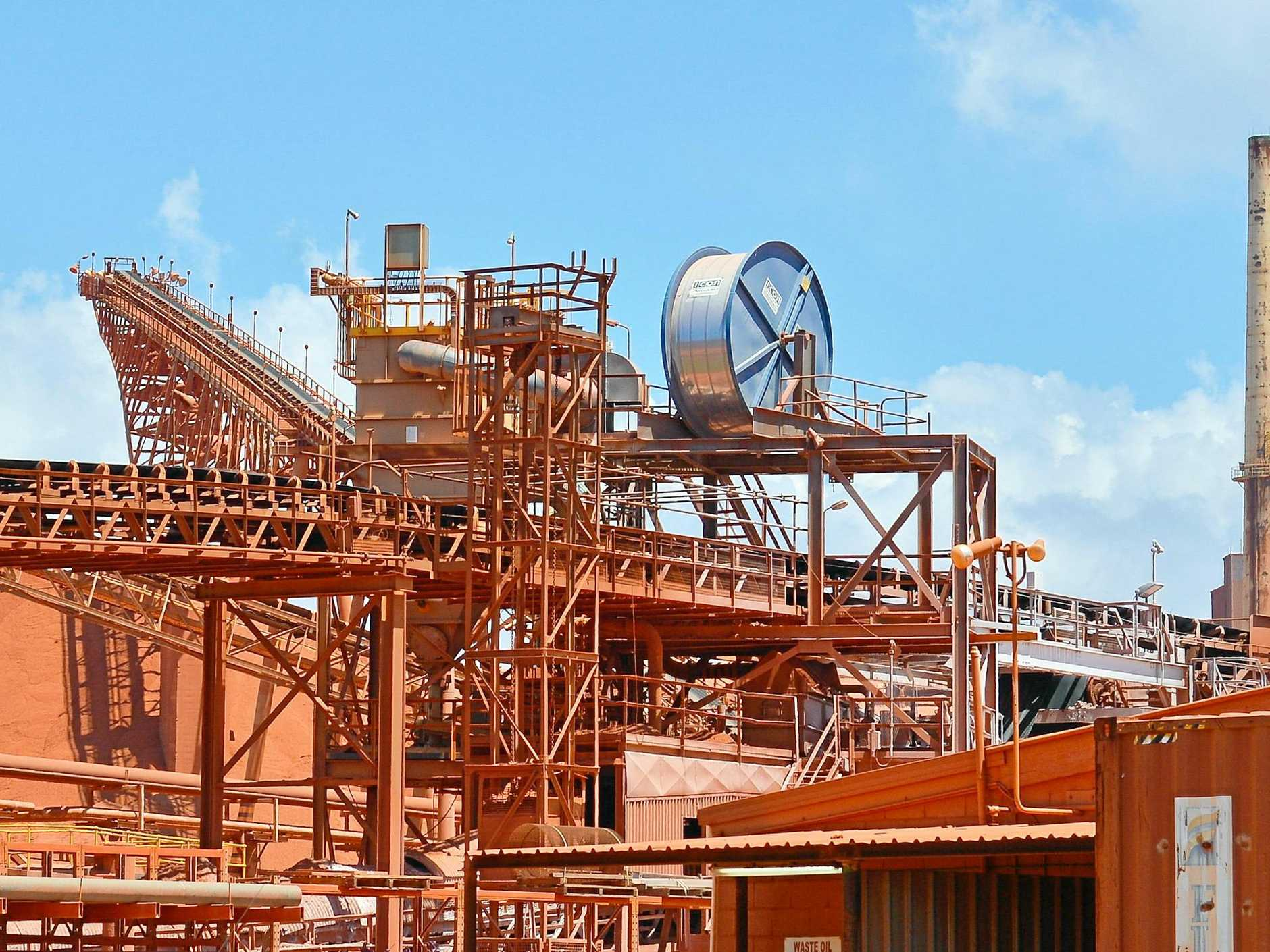 PROVISIONS: Queensland Alumina Limited can release 3.3 million tonnes of greenhouse gas a year.