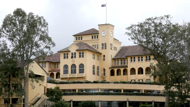 Brisbane Boys College in Toowong was one of the elite private schools singled out by Federal MP Andrew Laming OP analysis. Picture: AAP/Steve Pohlner