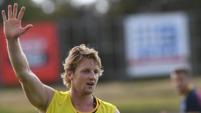 "Crows midfielder Rory Sloane describes reports he has decided to stay with Adelaide in his free-agency year as "" strange"". Picture: Tricia Watkinson"