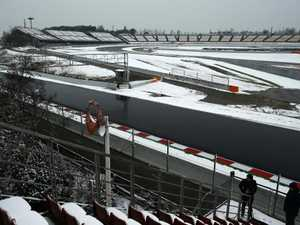 Snow joke! Storm wreaks havoc in F1 winter testing
