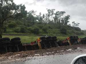 Truck rollover blocks critical stretch of NQ highway