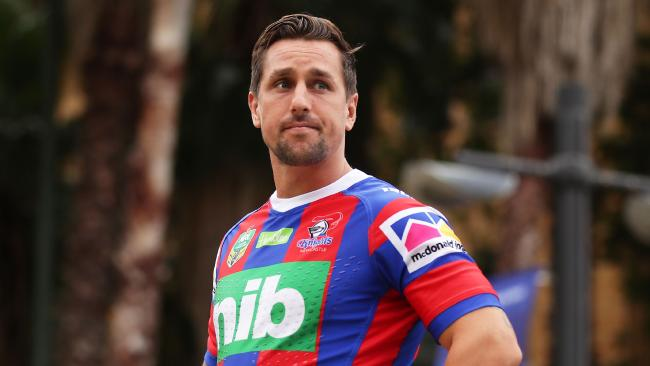 Mitchell Pearce of the Knights looks on during the 2018 NRL season launch.