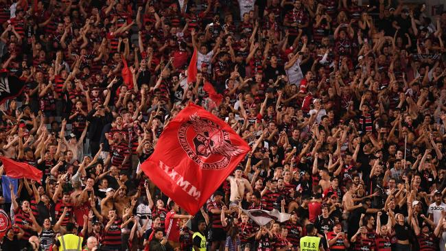 Wanderers fans in full voice.
