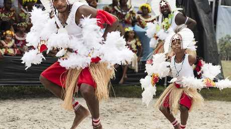 MOVING: Dancers at the Boomerang festival within a festival.Photo: Lyn McCarthyPhoto Contributed
