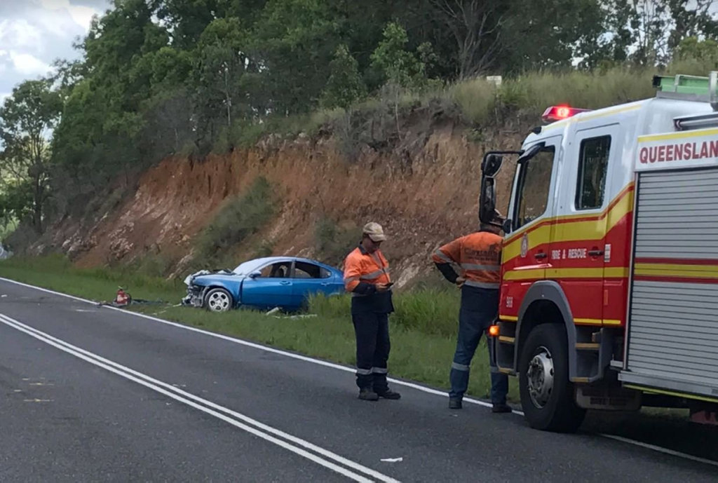 The scene of a serious crash on Maryborough Biggenden Rd.