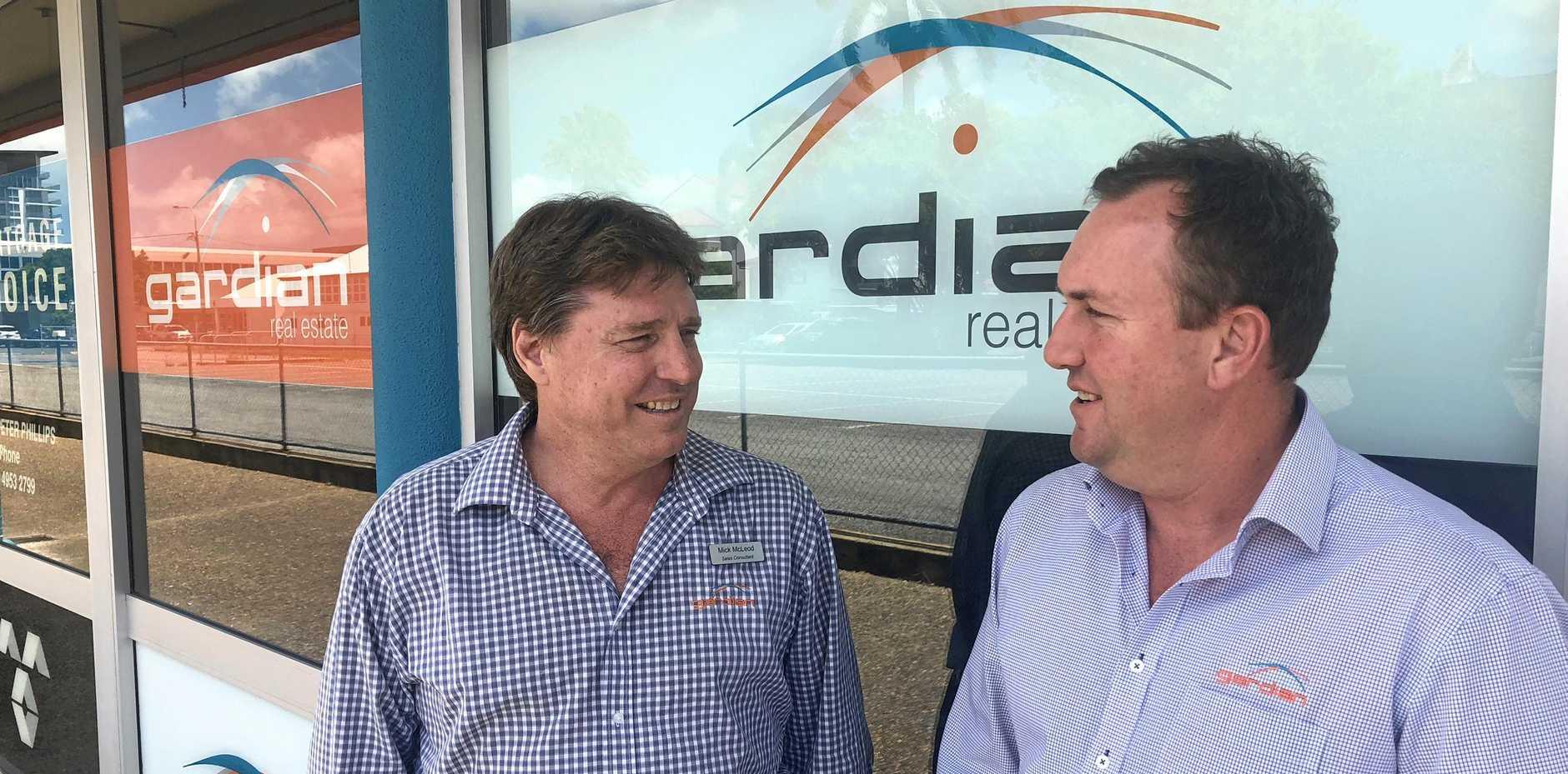 Buyers' consultant Mick McLeod with Ben Kerrisk