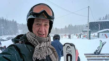 GAP YEAR: Chris Herrmann prepares to hit the slopes in New York State during his year-long adventure.