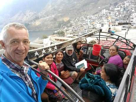 Chris Herrmann uses the local transport in Guatemala.