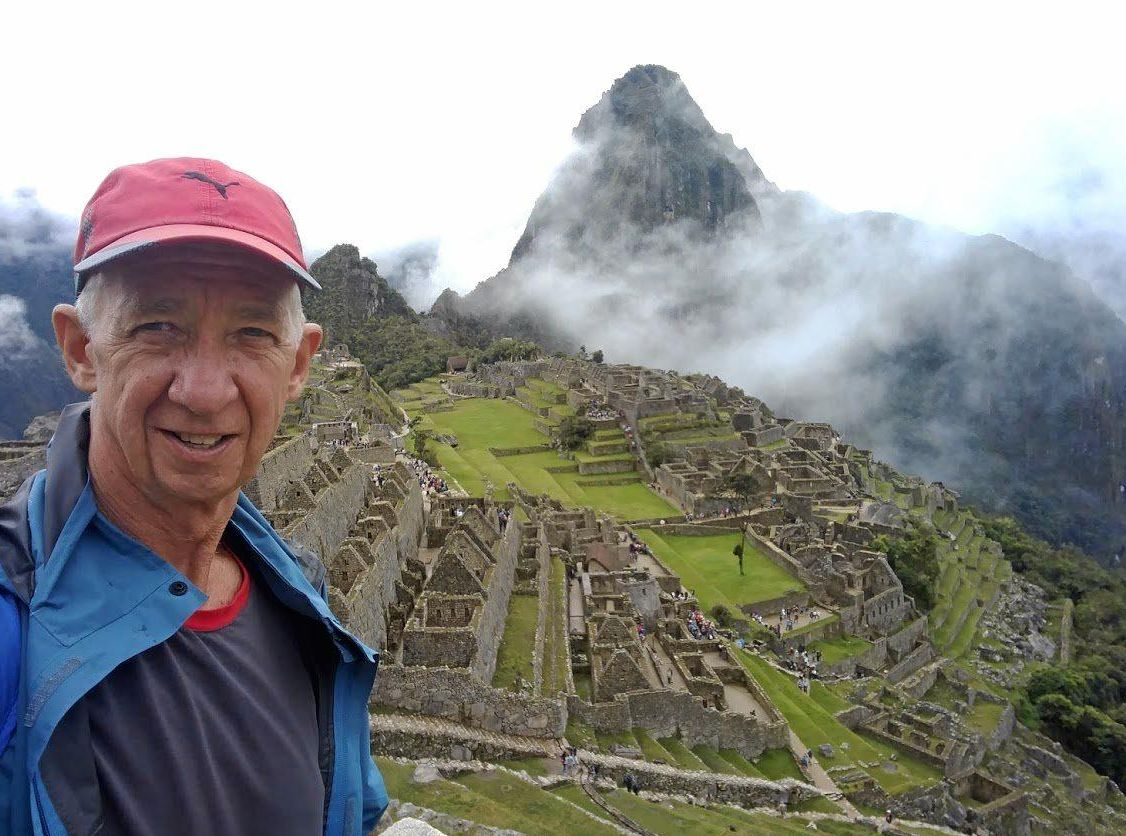 ADVENTURER: Chris Herrmann at Machu Pichu, Peru, during his senior gap year trek.