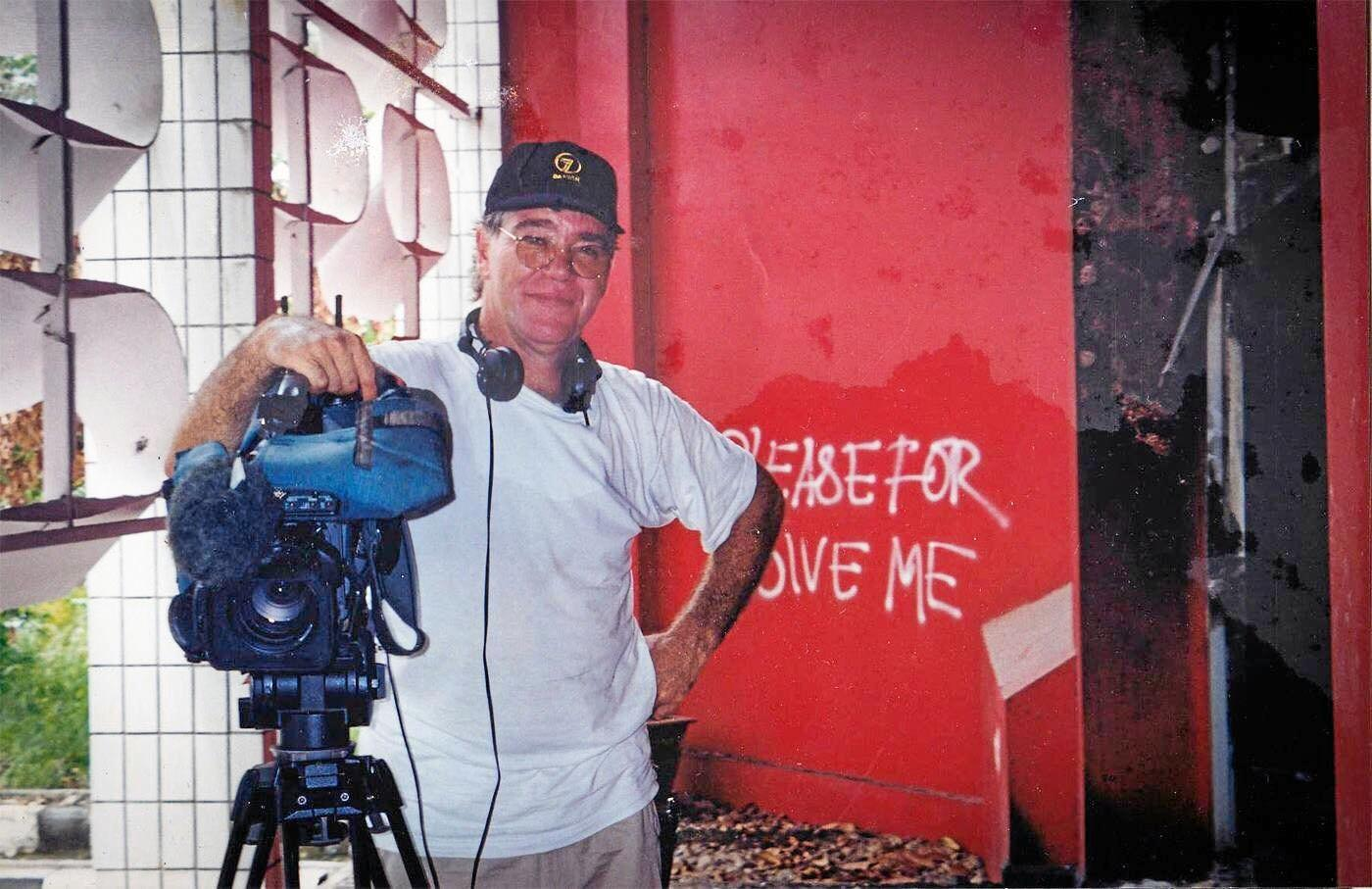 Taken in 2000 when Glen was covering a Timor dispute in a burnt out Government office complex.