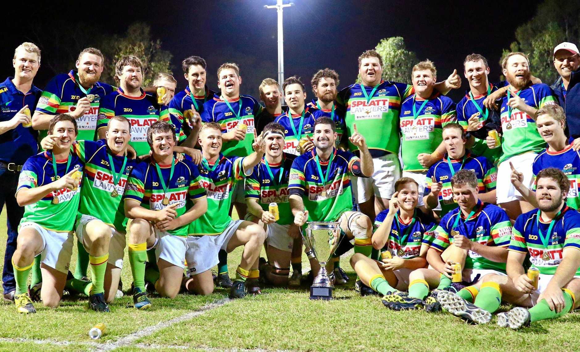 2017 - Rugy Union A Grade Grand Final winners - Dawson Valley