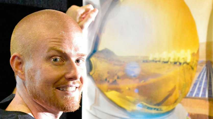 LAUGHING MATTER: Josh Richards, physicist/engineer turned stand-up comedian is hoping to become an astronaut.