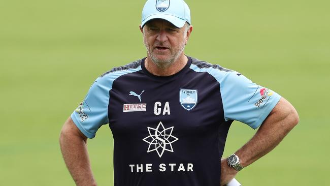 Graham Arnold at training.