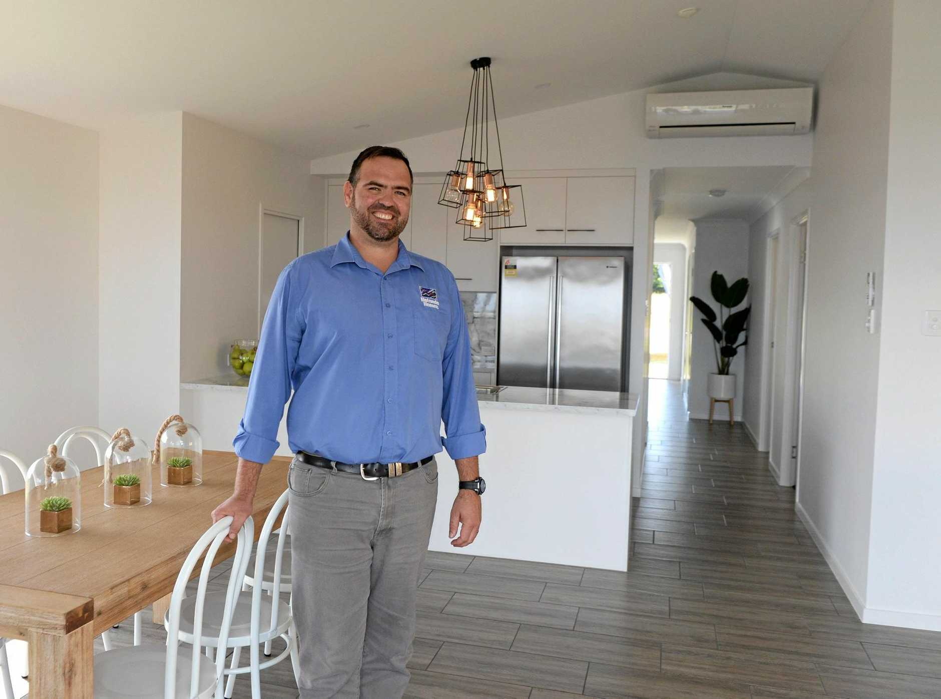 Anthony Wolff of Hotondo Homes Mackay has noticed a spike in first homes buyers since January.