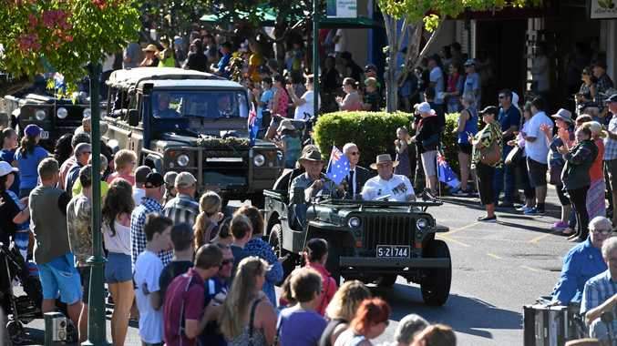 ANZAC DAY: Bundaberg Civic Service, in which the Bundaberg RSL Sub-Branch took part.
