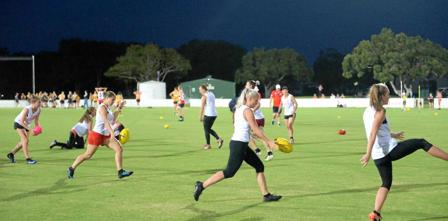The Gold Coast Suns held an AFLX Competition for the region's Under-17 teams and a Get Set for 2020 Women's Talent ID session at Harrup Park on Thursday, March 1, 2018.
