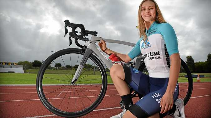 TEEN TALENT: Alexandra Martin-Wallace is the first female rider to be signed by the Sunshine Coast-based Australia Cycling Academy.