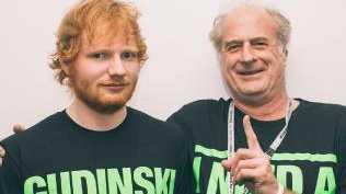 Ed Sheeran and Michael Gudinski. Pic: Supplied