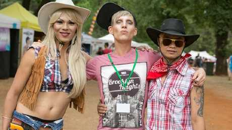 Partygoers at Daylesford's Chill Out gay and lesbian festival.