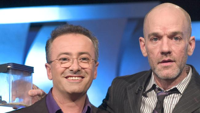 Andrew Denton and R.E.M. frontman, Michael Stipe, in 2008.
