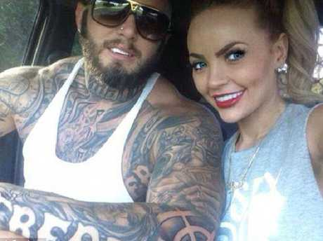 Sarah  (right), the former girlfriend of slain Rebel bikie Micky 'Notorious' Davey who as gunned down in his driveway in 2016.
