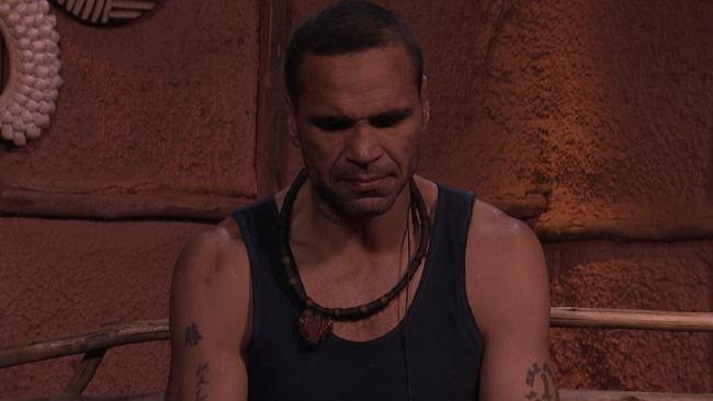 Anthony Mundine on the set of I'm A Celebrity ... Get Me Out Of Here!