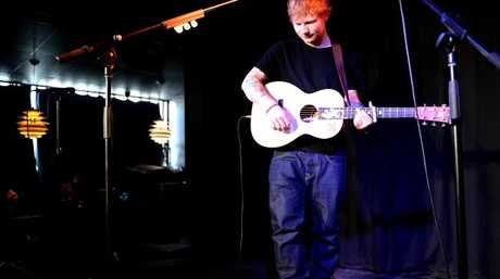 Ed Sheeran plays tiny gig in Melbourne at Ding Dong Lounge in Chinatown. Pic: Mike Keating
