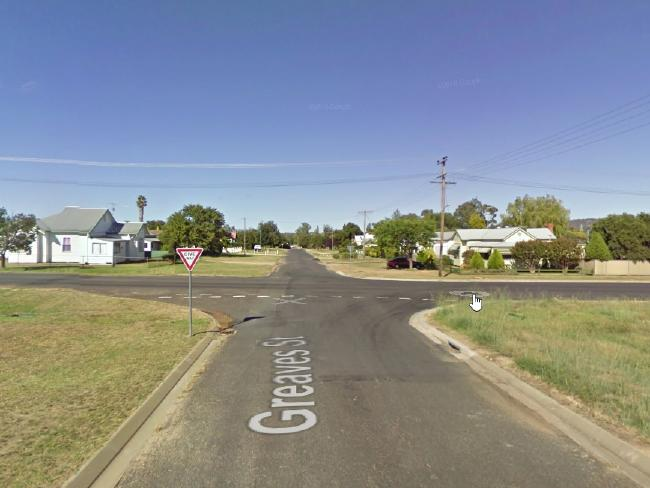 The street in Inverell where the dog attack occurred.