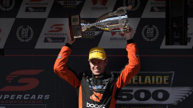 James Courtney finished second in race one in Adelaide