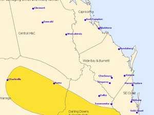 Storm warning: Damaging winds, heavy rainfall forecast