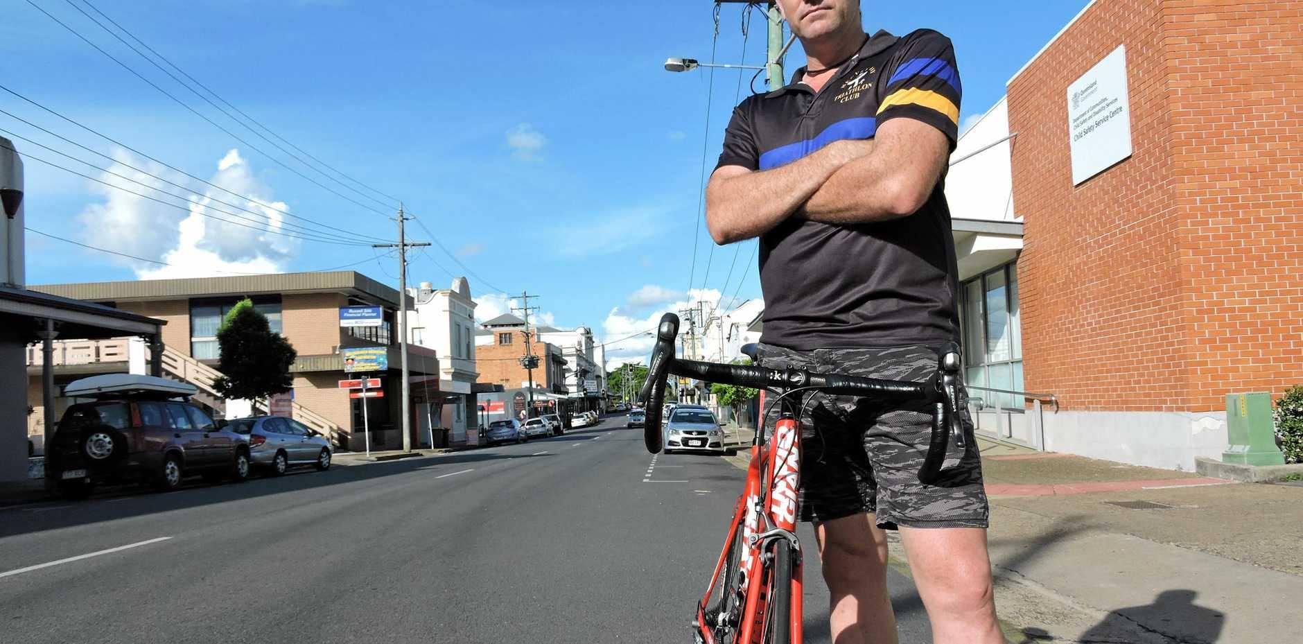 Cyclist Jeff Morris