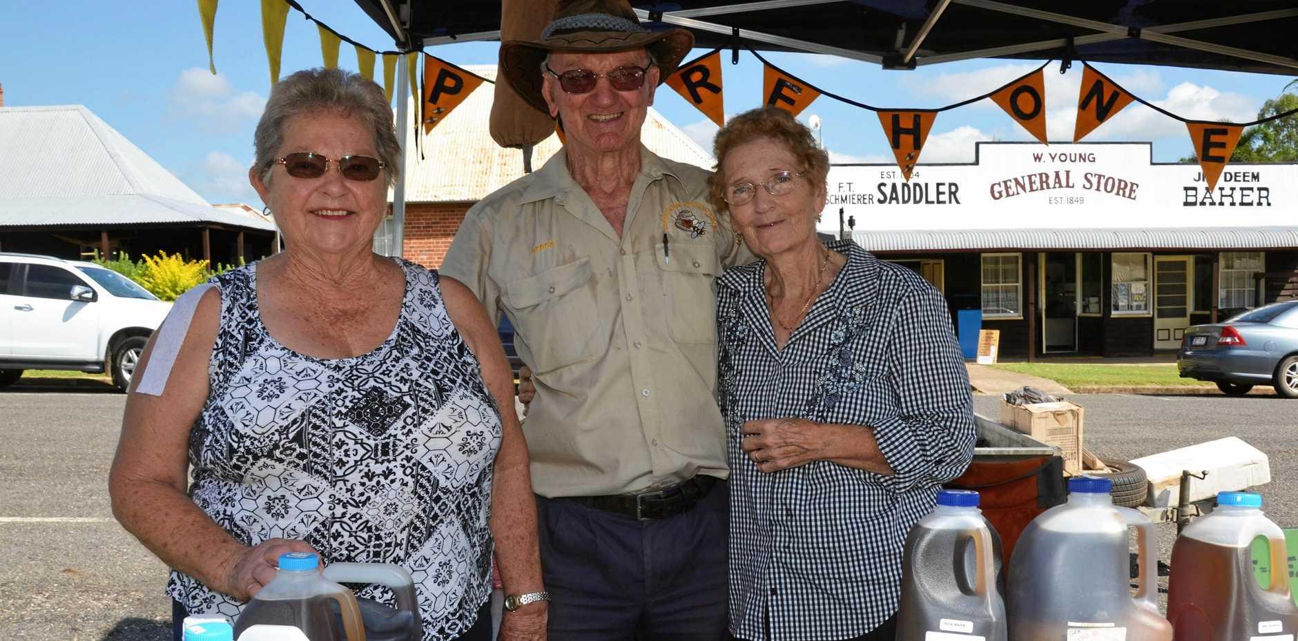 MARKETS: Beryl Palmer, Yvonne Godbold, and Derek R Jones talking all things honey.