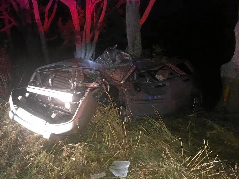 Emergency services were called to help rescue a woman from a car which crashed into a tree off Cudgen Rd at Cudgen on March 4, 2018.