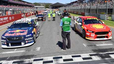 The Holden ZB Commodore, left, won on debut at the Adelaide 500.