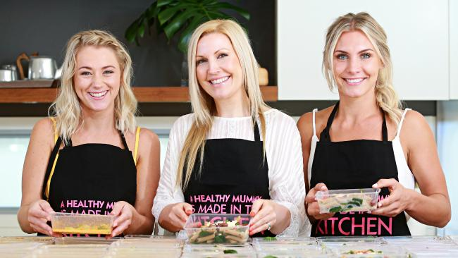 Kaitie Purssell, Rhiannon Allen and Sascha Farley from the Healthy Mummy. Picture: Adam Yip