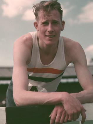 Roger Bannister in 1954. Picture: Allsport Hulton/Archive