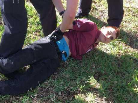 Nikolas Cruz when he was arrested. Picture: Supplied