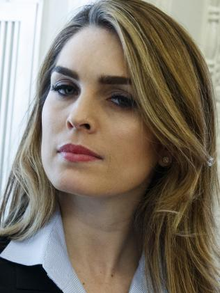 Former White House communications director Hope Hicks. Picture: AP