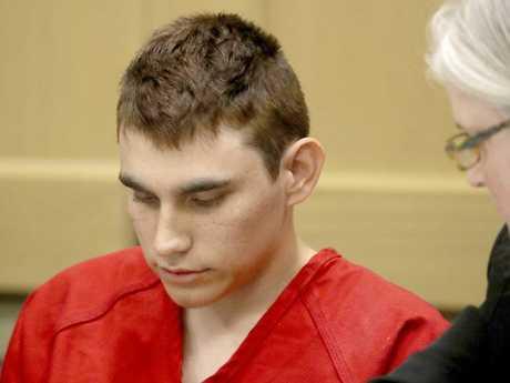 Nikolas Cruz, accused of murdering 17 people in the Florida high school shooting, appears in court. Picture: AP