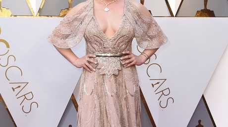 Abbie Cornish arrives at the Oscars on Sunday, March 4, 2018, at the Dolby Theatre in Los Angeles.
