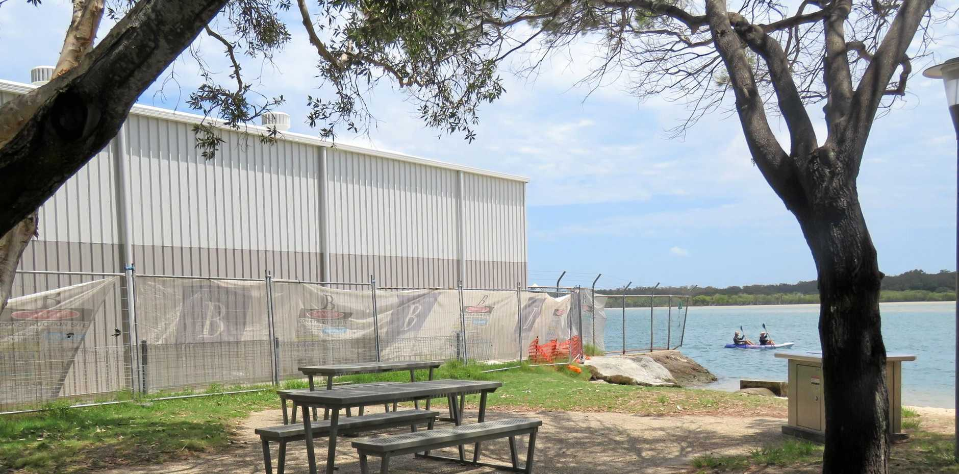 OVERPOWERING: The shed locals say is over-the-top for Munna Pt