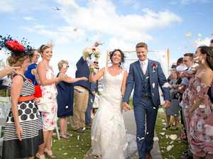 One perfect day filled with sunshine for happy couple