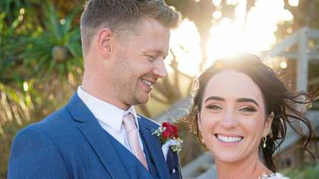 Katie Ormerod and Zak Grimshaw on their wedding day.
