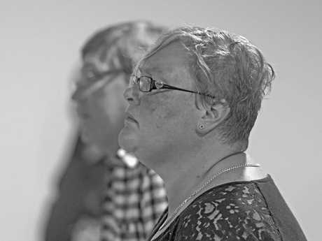 Janita Cooper listens to someone share their story at one of the first meetings to discuss what can be done about mental health issues in the Clarence Valley.