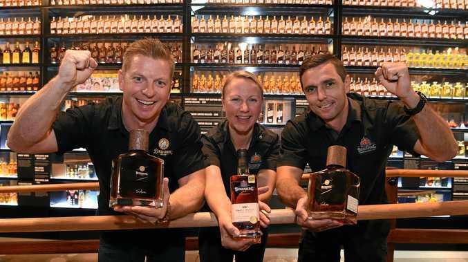 Bundaberg Rum senior brand manager Duncan Littler, Sarah Watson and Joshua Blanche.