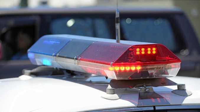 Three police cars damaged in CBD pursuit. Police car. Photo: Alistair Brightman / Fraser Coast Chronicle