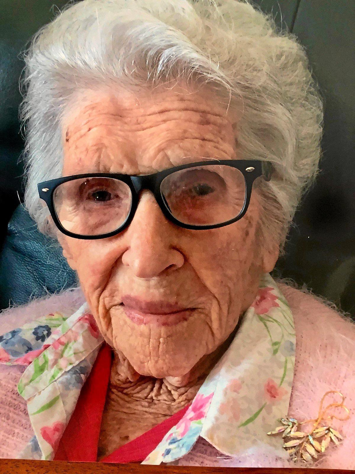Topsy Stevens at her 107th birthday last year.